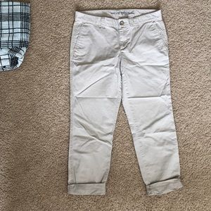 GAP girlfriend crop khakis